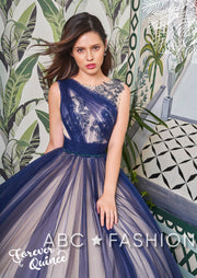 Two Tone A-line Tulle Quinceanera Dress by Forever Quince FQ789-Quinceanera Dresses-ABC Fashion