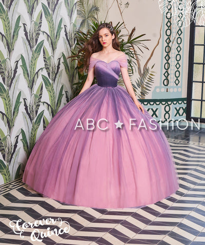 Two-Tone Off Shoulder Quinceanera Dress by Forever Quince FQ790-Quinceanera Dresses-ABC Fashion
