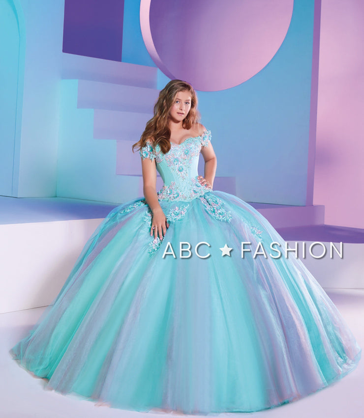 Two Tone Quinceanera Dress by Ragazza D37-537