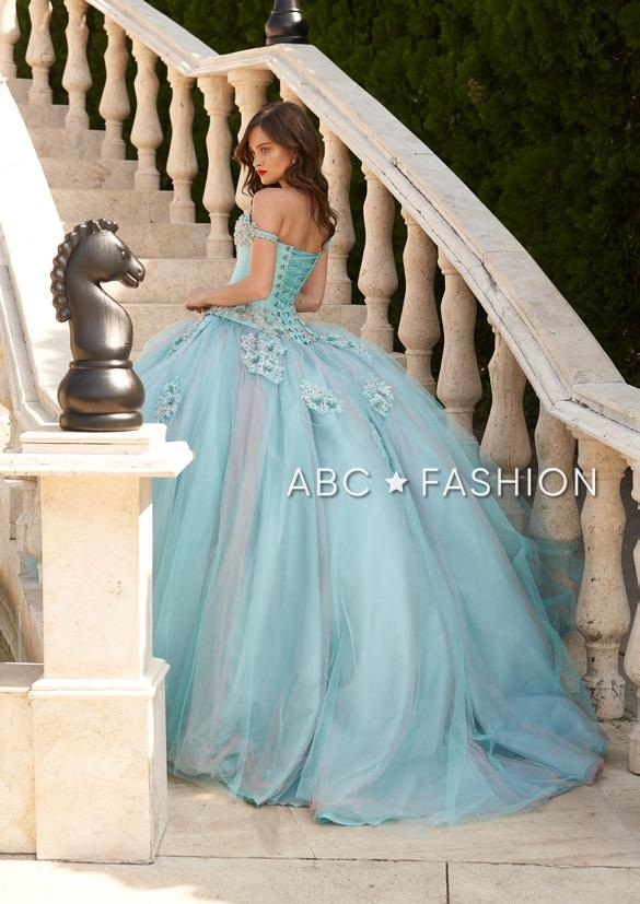 Two Tone Off Shoulder Quinceanera Dress by Ragazza Fashion D37-537
