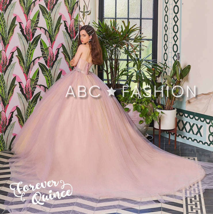 Two-Tone Strapless Quinceanera Dress by Forever Quince FQ802-Quinceanera Dresses-ABC Fashion