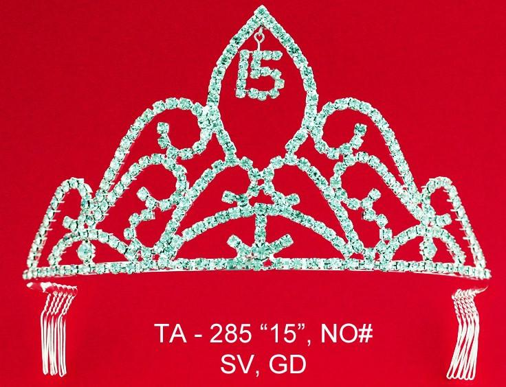 Unique Quinceanera Tiara - Sweet 15 Tiara-Quinceanera Tiaras-ABC Fashion