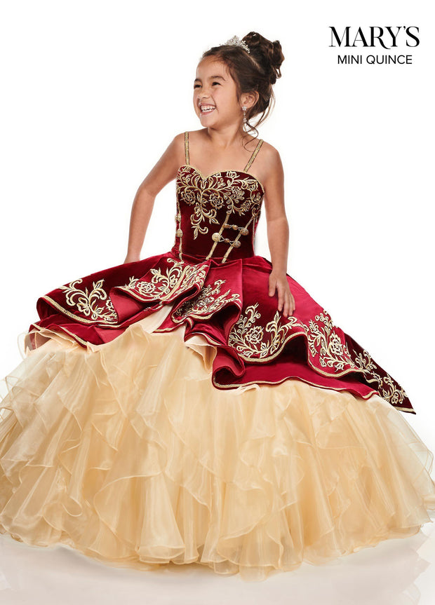 Velvet Charro Quinceanera Dress by Alta Couture MQ3037-Quinceanera Dresses-ABC Fashion