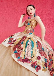 Virgen De Guadalupe Quinceanera Dress by Ragazza Fashion M18-118