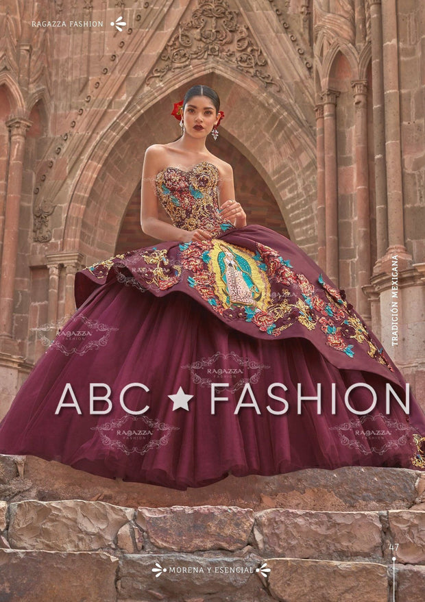 Virgen De Guadalupe Quince Dress by Ragazza M18-118