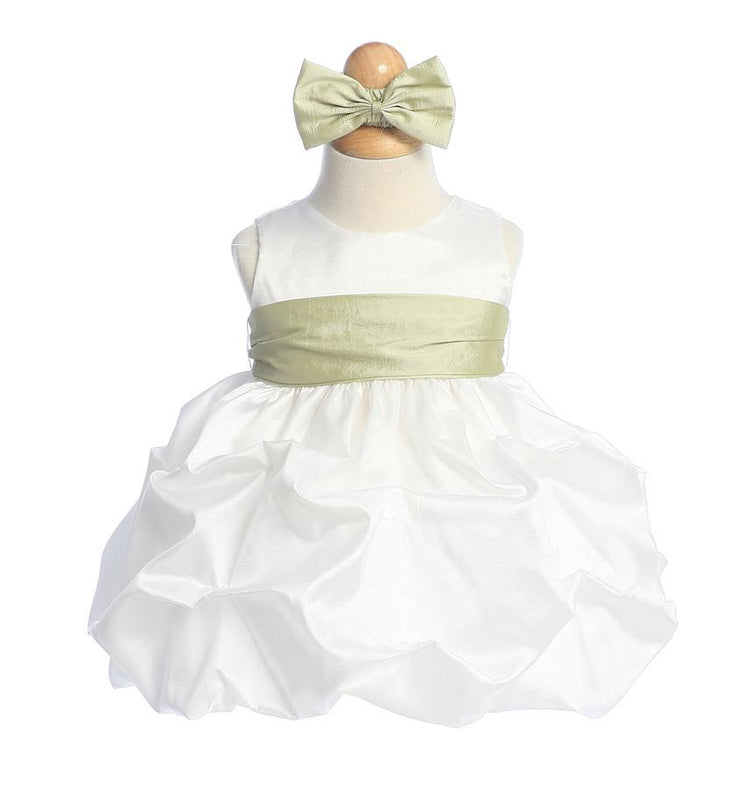 White Baby Dresses with Sash and Flower-Girls Formal Dresses-ABC Fashion