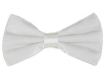 White Bow Ties with Matching Pocket Squares-Men's Bow Ties-ABC Fashion