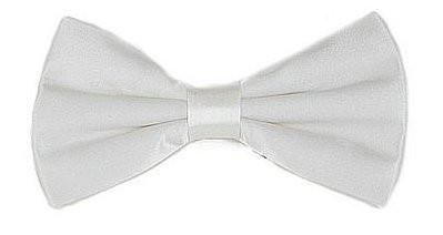 White Silk Bow Ties-Men's Bow Ties-ABC Fashion