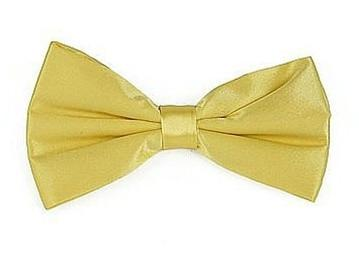 Yellow Bow Ties with Matching Pocket Squares-Men's Bow Ties-ABC Fashion