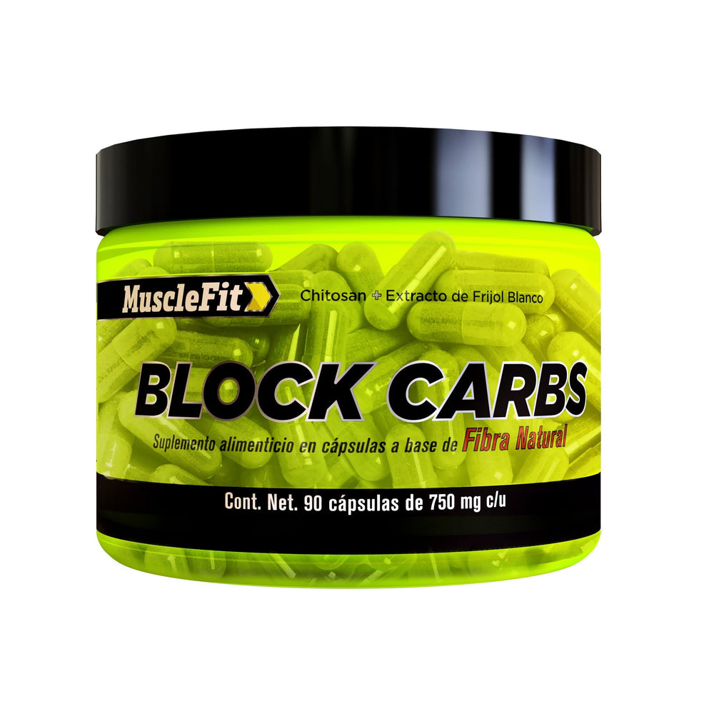 BLOCK CARBS - Blockeador de Carbohidratos y Grasas ( 90 Caps ) - MuscleFit