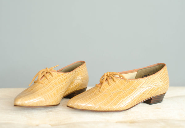1980's Faux Reptile Skimmer Shoes