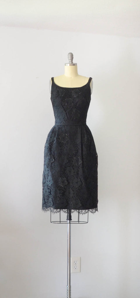 Vintage 1960's Little Black Lace Dress