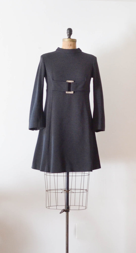 Vintage 1960's Mam'selle wool mod dress mini short sixties 60s fashion fall style concettas closet