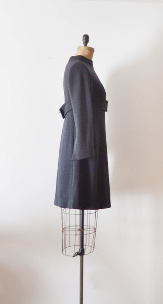 Vintage 1960's Mam'selle wool mod dress mini short sixties 60s fashion fall style concettas closet 1