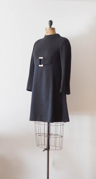 Vintage 1960's Mam'selle wool mod dress mini short sixties 60s fashion fall style concettas closet 4