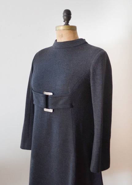 Vintage 1960's Mam'selle wool mod dress mini short sixties 60s fashion fall style concettas closet 5