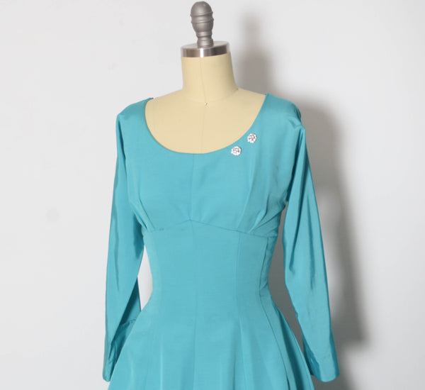 Vintage 1950's Tiffany Blue Party Dress