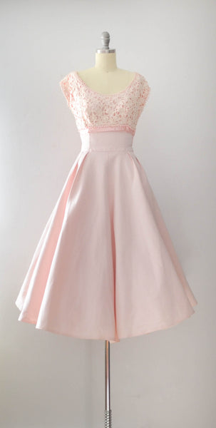 Vintage 1950's Pale Pink Fit & Flare Dress