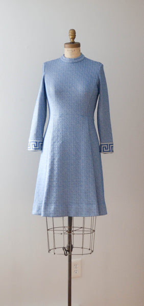 Vintage 1970's Anthora Wool Dress