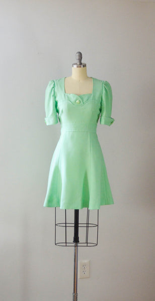 Vintage 1970's Pistachio Mini Dress
