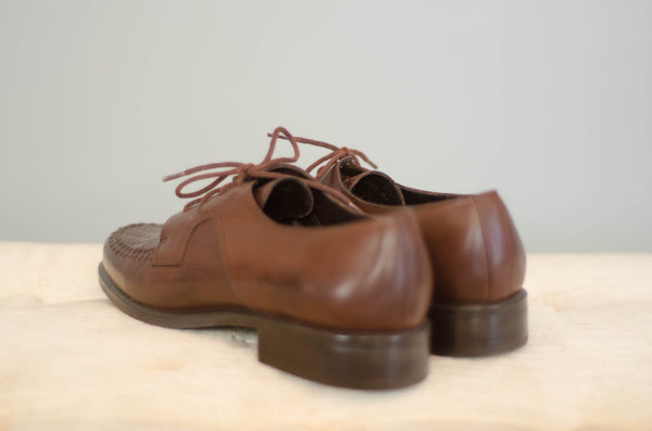 1980s brown leather brogues oxford shoes women flats preppy fashion size 7 concettas closet portsmouth nh new hampshire 2