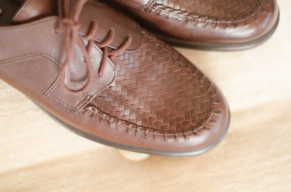1980s brown leather brogues oxford shoes women flats preppy fashion size 7 concettas closet portsmouth nh new hampshire 4