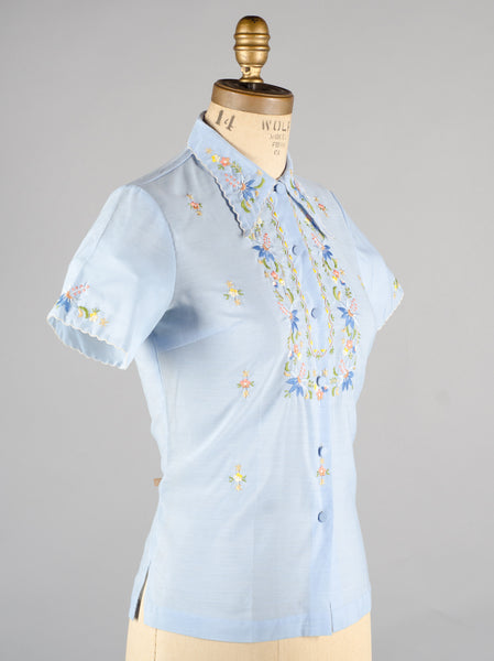 Vintage 1970's Chinese Embroidered Blouse
