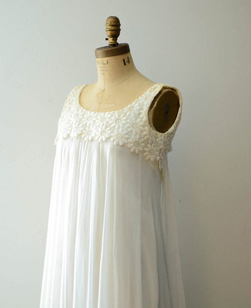 Vintage 1970\'s Chiffon and Lace Wedding Dress – Concetta\'s Closet