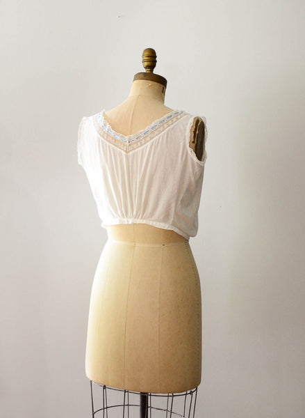 antique 1910s edwardian era camisole ivory white cotton lace lingerie bohemian boho fashion style concettas closet vintage 4