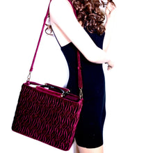 Quilted Velvet Satchel W/ Wallet