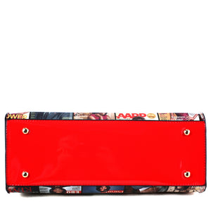 Magazine Link Chain 2 n 1 Purse with Wallet(Red)