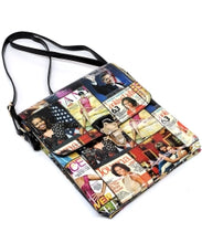 Magazine Cover Collage Crossbody Bag