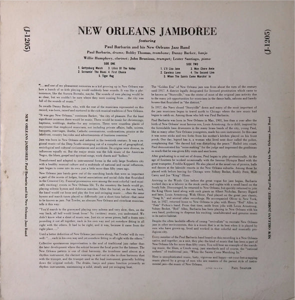 Paul Barbarin and his New Orleans Jazz Band <BR>New Orleans Jamboree