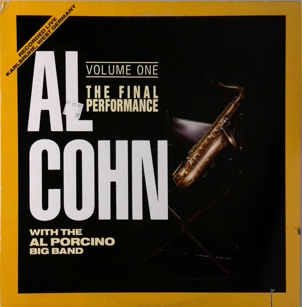 Al Cohn <BR>The Final Performance Volume One
