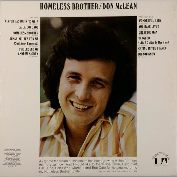 Don Mclean <BR>Homeless Brother