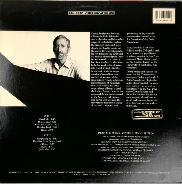 Denny Zeitlin <BR>Home-Coming