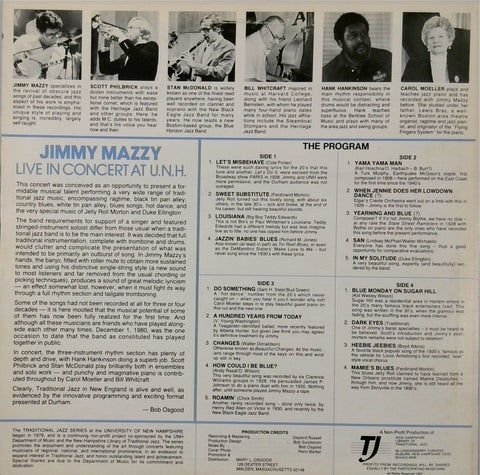 Jimmy Mazzy <BR>Live In Concert At U.N.H