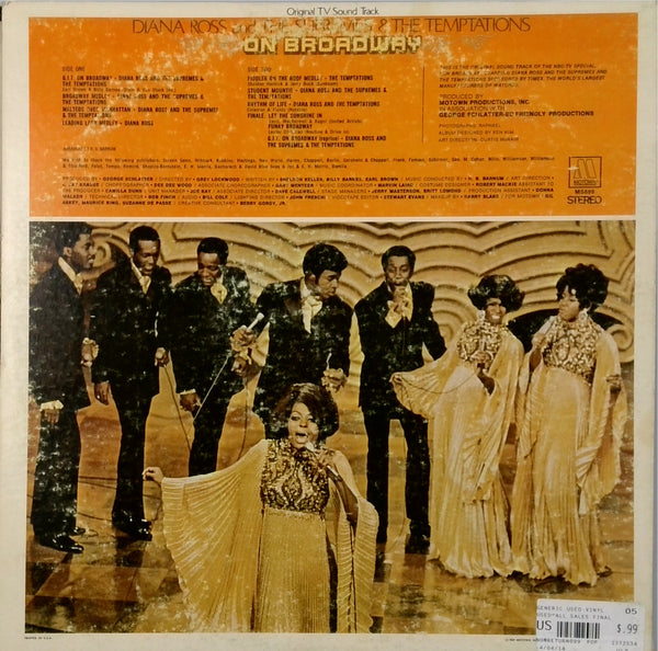 Diana Ross Join The Temptations And The Supremes <BR>On Broadway