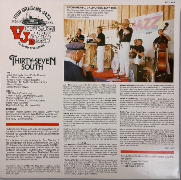 Vintage Jazz Band <BR>Thirty-Seven South