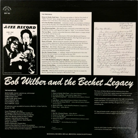 Bob Wilber And The Bechet Legacy