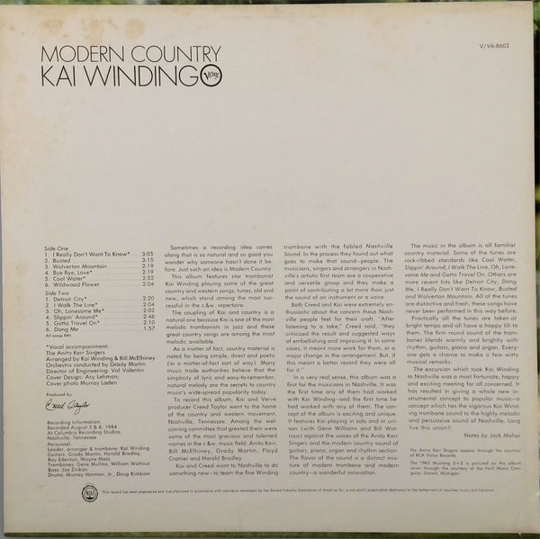 KAI WINDING <BR>MODERN COUNTRY