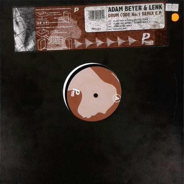 Adam Beyer and Lenk  <BR>Drum Code No.1 Remix E.P.