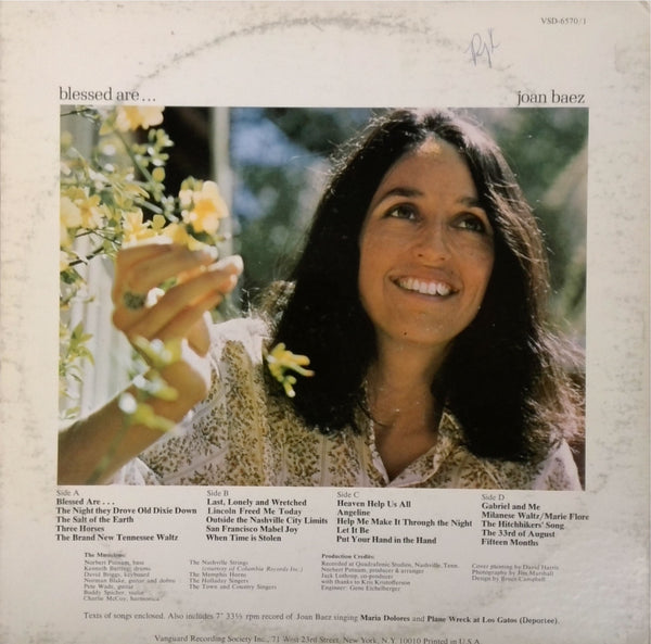 Joan Baez <BR>Blessed Are