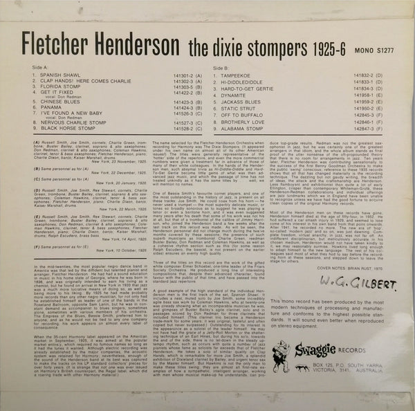 FLETCHER HENDERSON <BR>THE DIXIE STOMPERS 1925-6