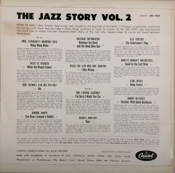 VARIOUS <BR>THE JAZZ STORY VOLUME 2