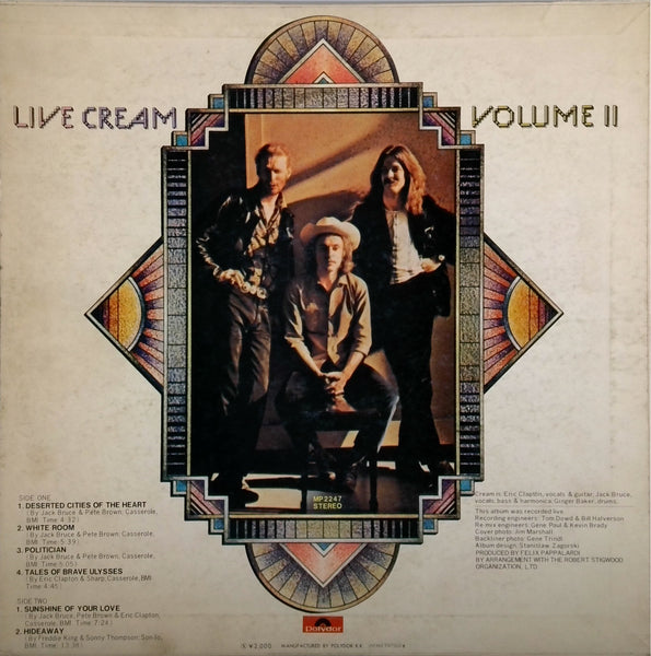 CREAM <BR>LIVE VOLUME II