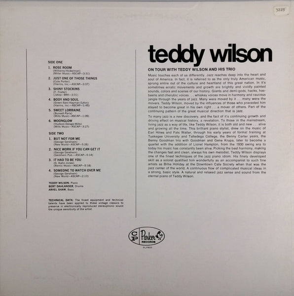 TEDDY WILSON AND HIS TRIO<BR>ON TOUR WITH TEDDY WILSON AND HIS TRIO