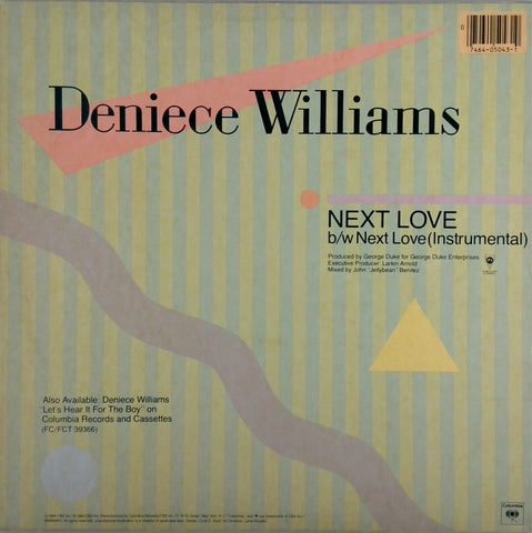 DENIECE WILLIAMS <BR>NEXT LOVE