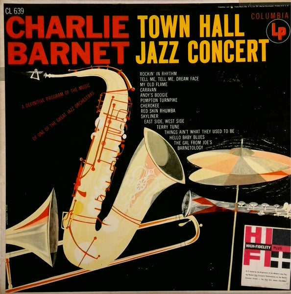 CHARLIE BARNET <BR>TOWN HALL JAZZ CONCERT