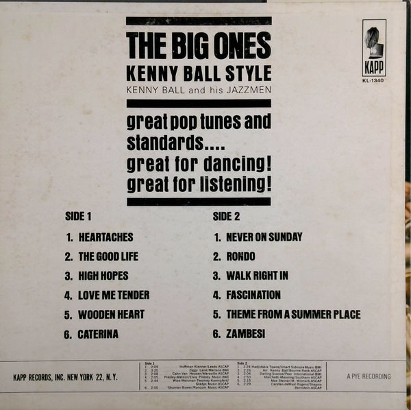 KENNY BALL <BR>THE BIG ONES